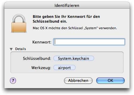 System keychain